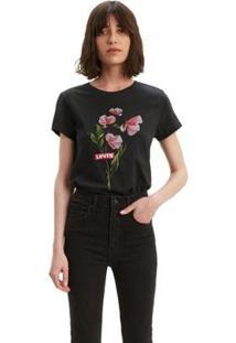 Camiseta Levis The Perfect Feminina - Feminino-Preto