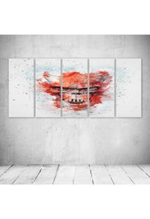 Quadro Decorativo - Skull458 - Composto De 5 Quadros - Multicolorido - Dafiti