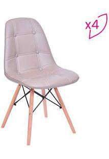 Or Design Jogo De Cadeiras Eames Boton㪠Fendi & Bege 4Pã§S