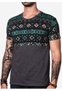 Camiseta Meio A Meio Etnica 101458