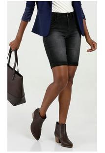 Bermuda Feminina Jeans Cintura Média Marisa
