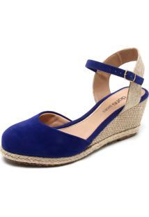 f2e9f810f Sandália Azul Marinho Bico Redondo feminina