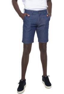 Bermuda Jeans Aleatory Chino Azul