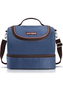 Bolsa Térmica Com 2 Compartimentos Jacki Design Ahl17398 Azul Escuro