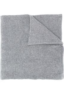 Kenzo Cachecol De Tricô Com Logo - Cinza