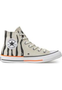 Tênis Converse All Star Chuck Taylor Hi Bege Claro Ct13820002