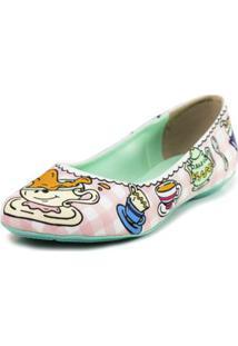 Sapatilha Shoes Inbox Bico Redondo Cupcakes Shoes Feminino - Feminino-Rosa