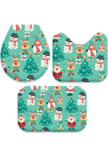 Jogo Tapete Love Decor Para Banheiro Cute Christmas Único - Kanui