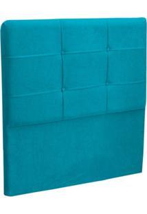 Cabeceira Solteiro Cama Box 90 Cm London Turquesa - Js Móveis