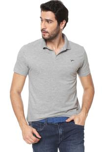 ... Camisa Polo Yachtsman Logo Cinza 3d783aa525013