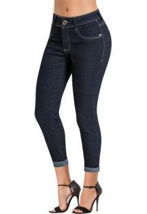 05390164c ... Calça Jeans Sawary Azul Escura Modelo Cropped