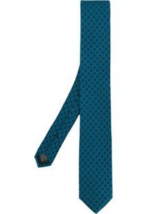 Dolce & Gabbana Gravata Com Estampa Geométrica - Azul