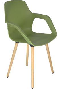 Cadeira De Cozinha Beau Com Braço Verde
