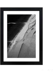 Quadro Decorativo Praia De Guaecá 28X38Cm Preto Infinity
