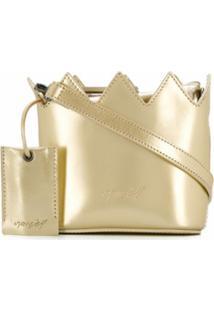 Marsèll Bolsa Tote Mini - Dourado