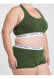Top Nadador Modern Cotton Plus Size - Verde Militar - 1Xl