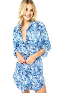 Camisa Agua Doce Conchas Azul