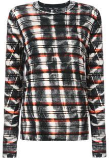 Proenza Schouler Blusa De Tricô Tie Dye - Preto
