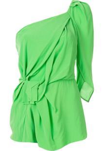 Kitx Blusa Ombro Único Franzida - Verde