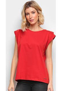 Camiseta Colcci Básica Feminina - Feminino-Vermelho
