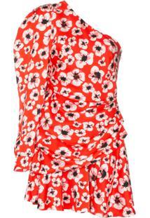 Borgo De Nor Vestido Christina Com Estampa Floral - Vermelho