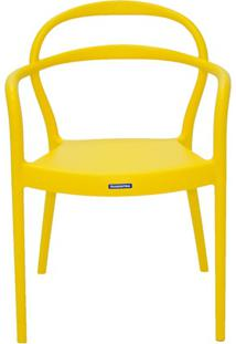 Cadeira Com Braços Em Polipropileno Sissi 79X58X51,5Cm Amarela