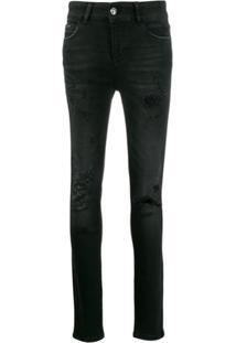 Philipp Plein Calça Jeans Slim 'Statement' - Preto