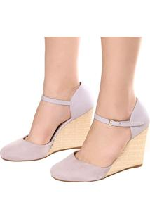 Sandália Dafiti Shoes Anabela Roxo