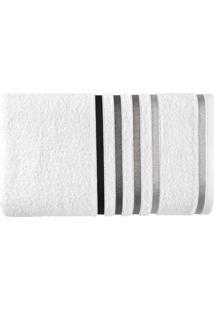 Toalha De Banho Karsten Algodão/Poliéster Branco/Preto