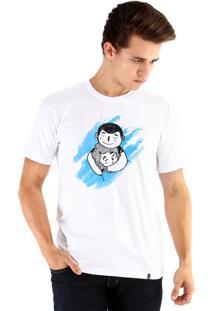 Camiseta Ouroboros Abraço De Urso Branco