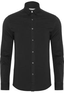 Camisa Masculina Ckj Logo - Preto
