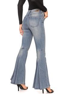 Calça Jeans Carmim Flare Oslo Azul