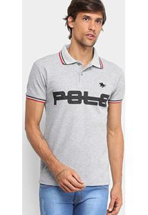 Camisa Polo Rg 518 Piquet Bordado Masculina - Masculino-Mescla