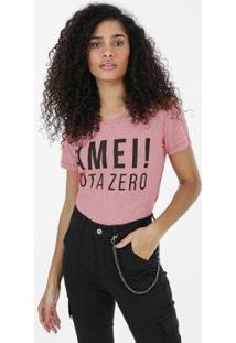 Camiseta Não Era Amor Laranja - Feminino