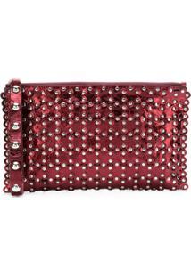 Red Valentino Bolsa Clutch De Couro - Vermelho