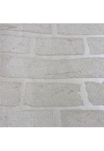 Papel De Parede Geomã©Trico- Cinza- 1000X105Cm- Sshark Metais
