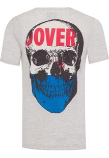 Camiseta Masculina Vintage Skull - Bege