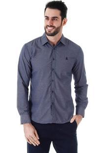 Camisa Casual Masculina Broken Rules - Marinho