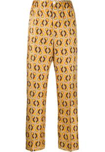 F.R.S For Restless Sleepers Calça Com Estampa Geométrica - Amarelo