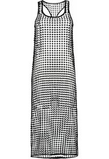 Ganni Vestido Com Decote Nadador De Crochê - Preto