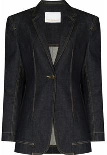 Remain Blazer Jeans Com Abotoamento Simples - Azul