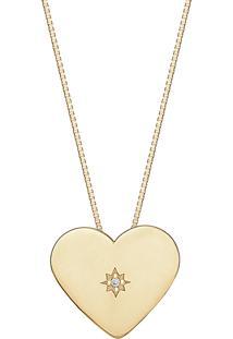Pingente Em Ouro Amarelo 18K Com Diamante - Kiss Me