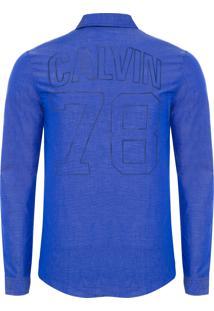 Camisa Masculina Calvin 78 - Azul