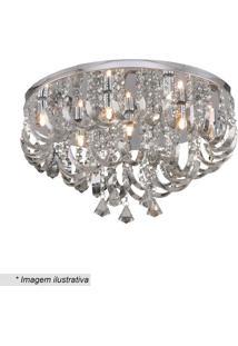 Plafon Com Ornamentos Retorcidos- Cristal- 30Xø55Cm