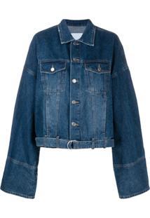 Sjyp Jaqueta Jeans Oversized - Azul