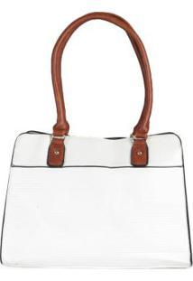 Bolsa Básica Feminina Textura Branco
