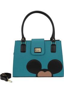 Bolsa Gouveia Costa Mickey Mouse Alça Transversal Feminina - Feminino-Verde