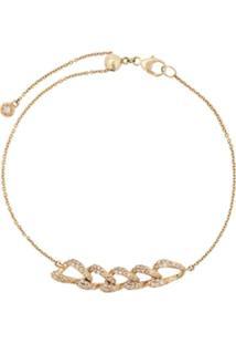 Astley Clarke Pulseira De Ouro Amarelo 14Kt Com Diamante - Dourado