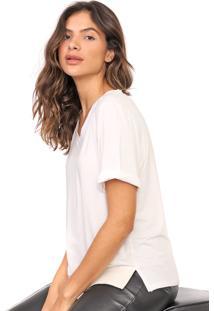 Camiseta Lanã§A Perfume Lisa Off-White - Off White - Feminino - Viscose - Dafiti