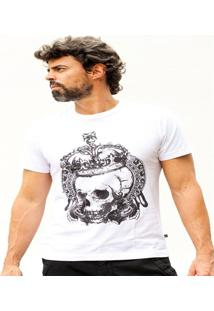 Camiseta Hardivision King Of Skull Manga Curta - Masculino
